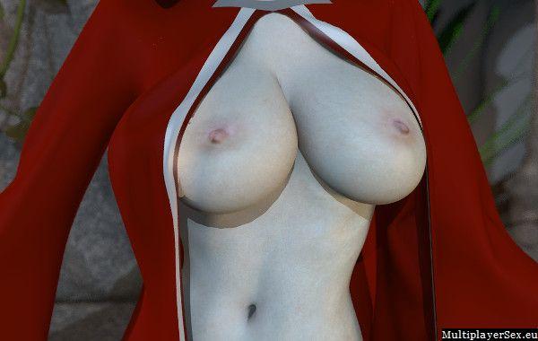 Mage reveals her boobies