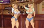 Two hote blonde cowgirls ready to ride